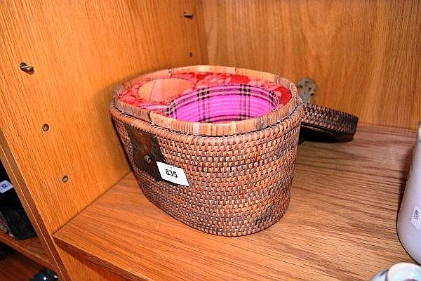 vintage chinese basket containing