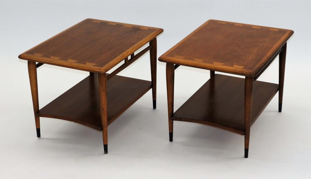 mcm lane design walnut side end tables