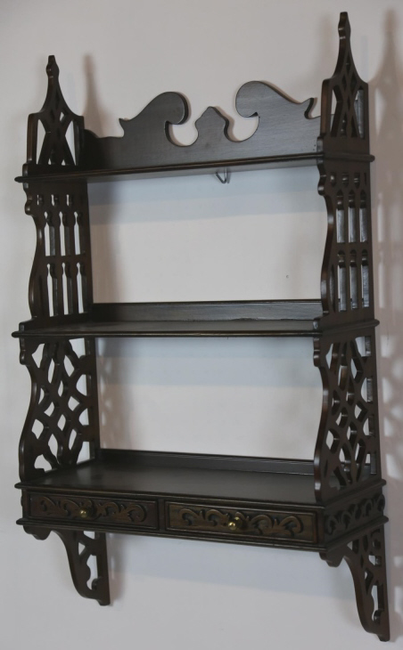 Chippendale Mahogany Hanging Wall Shelf