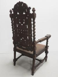 Large carved throne chair