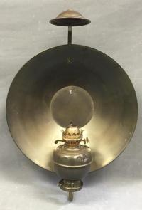 Brass wall mounted oil lamp
