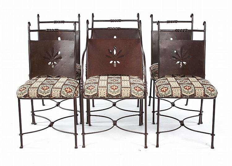 wrought iron dining chairs bedroom chair kmart six contemporary lot 1504
