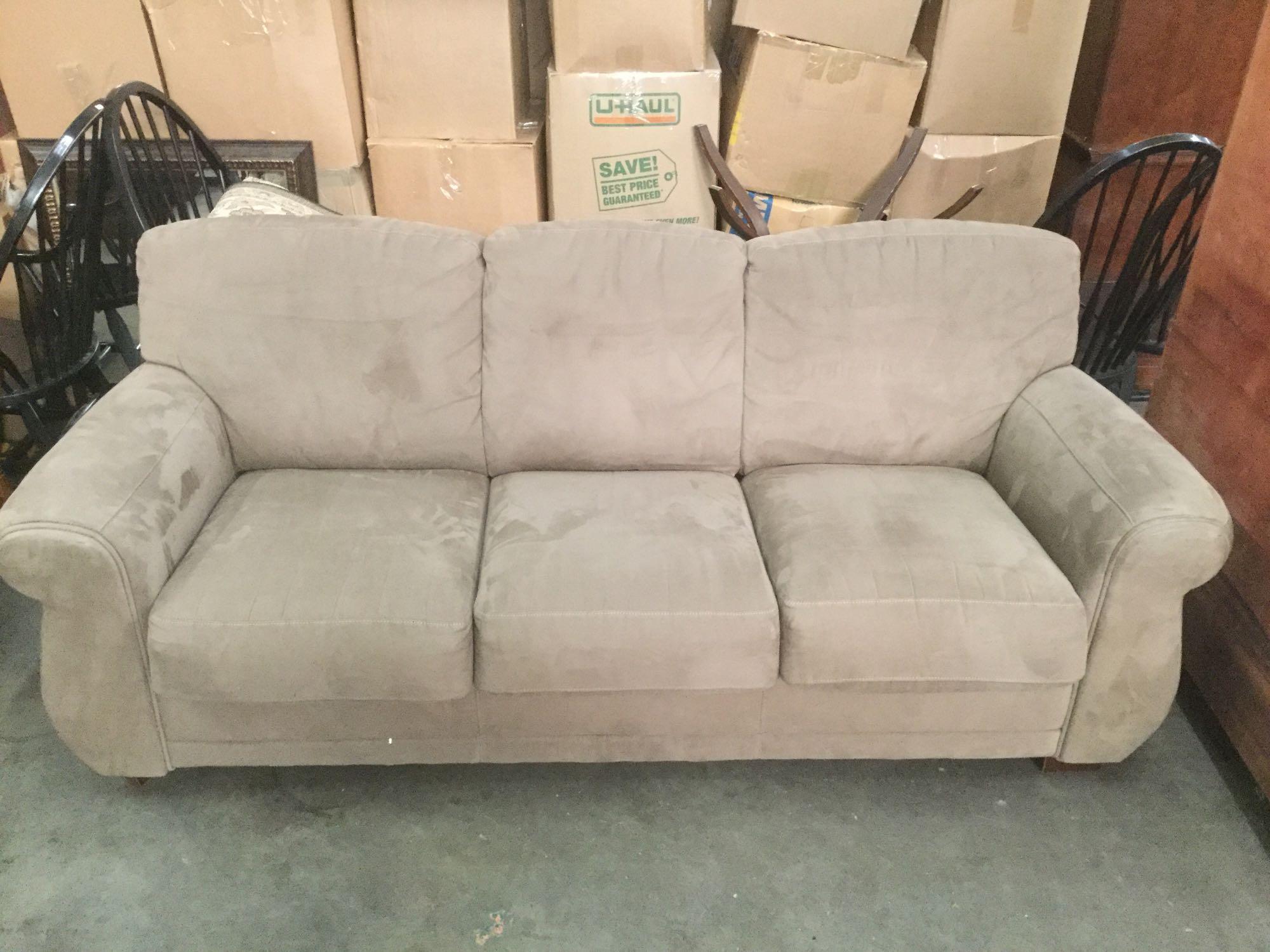 robinson co modern microfiber couch