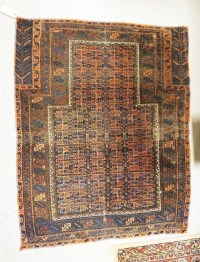 ANTIQUE ORIENTAL THROW RUG MEASURING 3 FT 4 INCHES X 4 FT 2