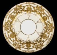 * Mintons. Set of 12 porcelain dinner plates retailed by Dav