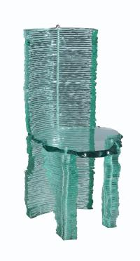 ? Danny Lane , a stacked float glass chair, 99cm high Please