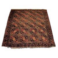 Antique Caucasian Oriental Throw Carpet