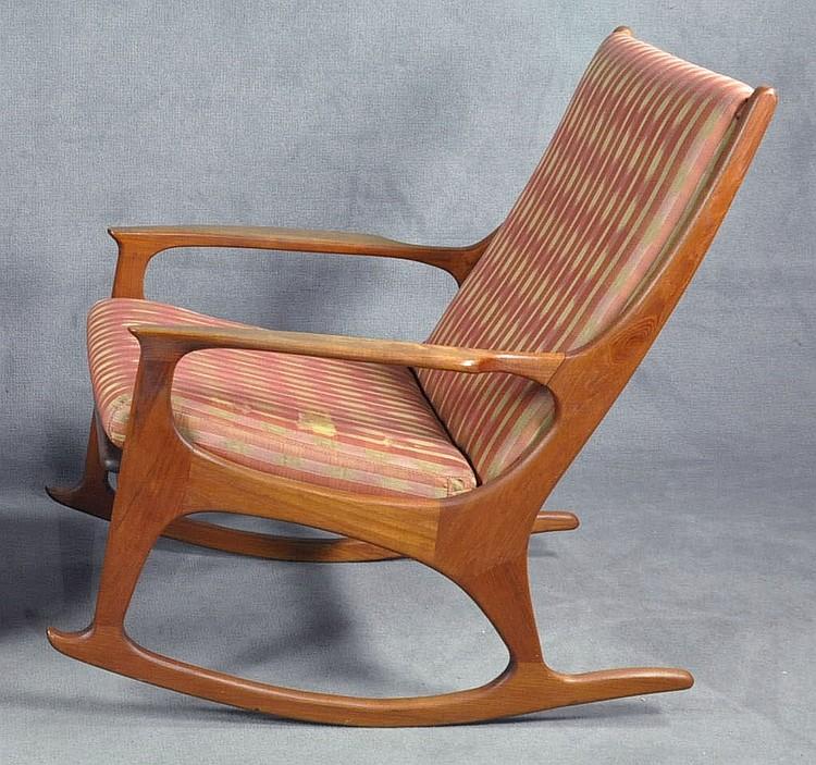 adrian pearsall rocking chair desk repair rocker lot 223