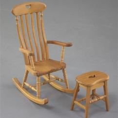 Chair And Matching Stool Leather Recliner Chairs Canada Denis Hillman A Victorian Style Beech Miniature Rocking Armchair