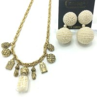 Chanel Style Necklace & Catherine Stein Earrings