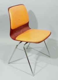 Mid Century Modern Laminated Rosewood Chairs