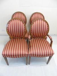 Four Contemporary Louis XVI Style Dining Chairs