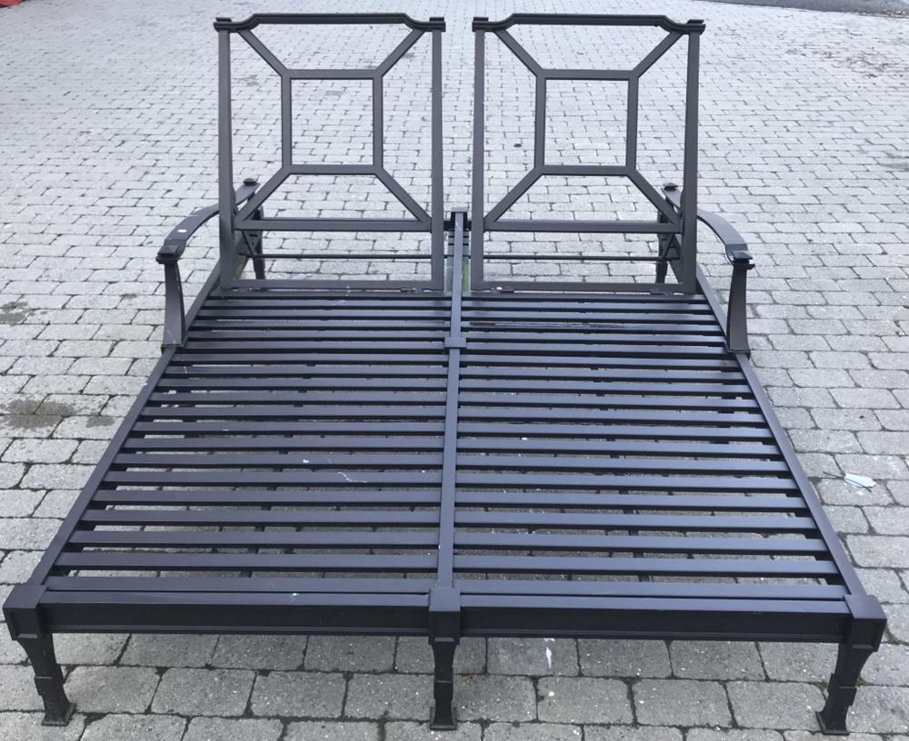 double lounge chair outdoor desk upright restoration hardware lot 504