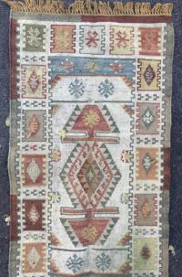 Southwestern Style Geometric Carpet Runner / Rug