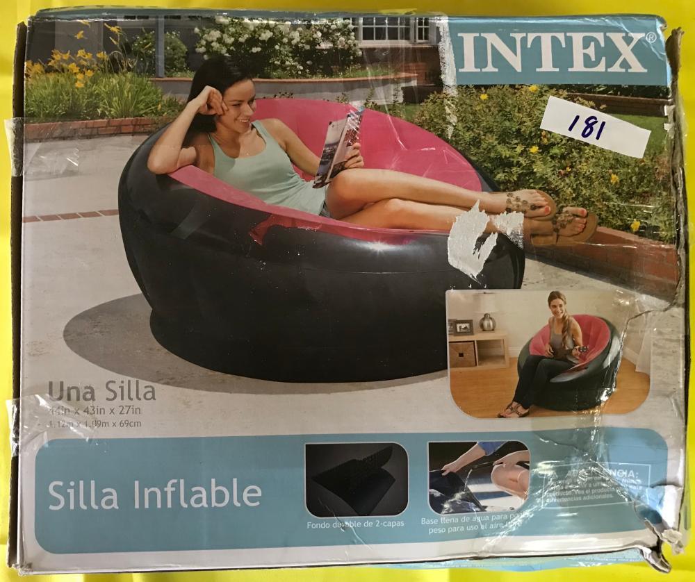 intex air chair cool outdoor chairs lot 181
