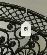 """Victorian wicker fancy chair, 32""""h x 26""""w"""