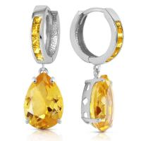 13.2 Carat 14K Solid White Gold Loving Touch Citrine Earring