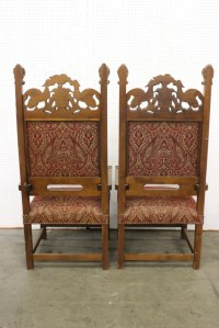 Pair magnificent Italian throne chairs