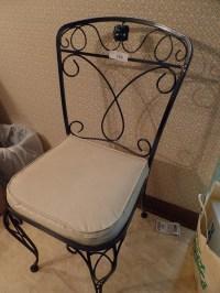 MID CENTURY ALERT-Wrought iron fancy 1950's chair