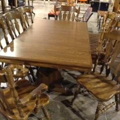 Vintage Oak Dining Chairs Jrc Fishing Chair Accessories Table W 8 By Cochrane Lot 88