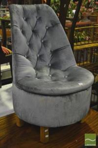 Powder Blue Velvet Upholstered Bedroom Chair
