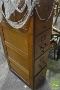 Timber Filing Cabinet with Four Drawers