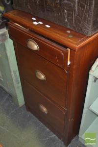 Timber Three Drawer Filing Cabinet