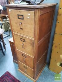 Timber 4 Drawer Filing Cabinet