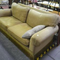 One And Half Seater Sofa Bed Ashley Upholstered Two Tear To Arm Lot 1062