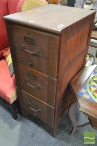 Vintage Timber Filing Cabinet