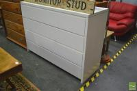 Oversized White Chest of Drawers
