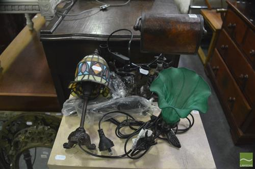 Collection of 5 Small Table Lamps ( 2 without shades)