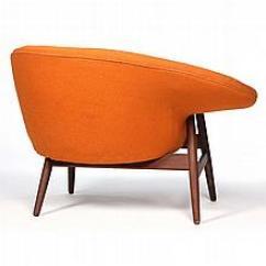 Fried Egg Chair Upholstered Dining Room Covers Hans Olsen Lot 181