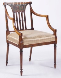 An Edwardian Period Painted Armchair