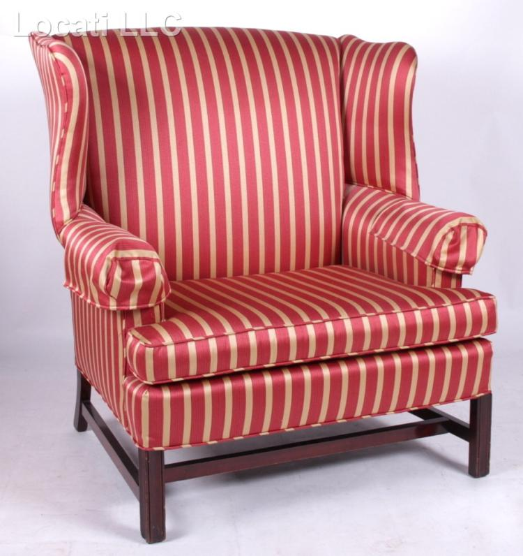 A Modern Oversized Wingback Chair