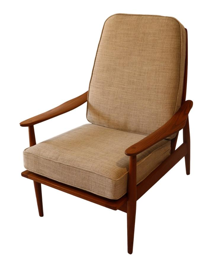 teak lounge chair folding directors with side table mid century modern high back h20190 l119115094 jpg