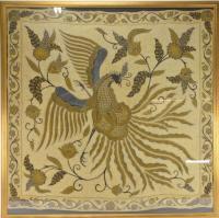 Indonesian Batik Large Wall Art On Cotton