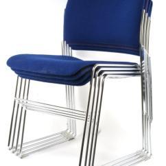 David Rowland Metal Chair Walmart Futon 40 4 Stacking Chairs Lot 256