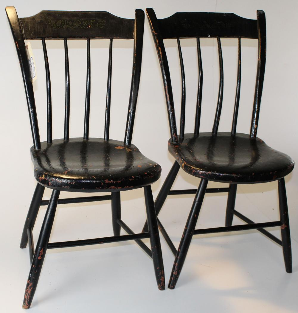 Windsor Chairs Black 4 Rabbit Ear Windsor Chairs In Black Paint