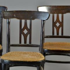 Bentwood Cane Seat Chairs Desk No Wheels 7 Antique Arm Lot 8a