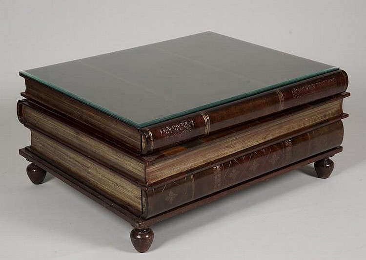Maitlandsmith Stacked Book Form Leather Coffee Table