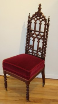 Over 100 Year Old Pair of Antique Gothic Chairs