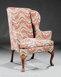 George III Walnut Wing Chair