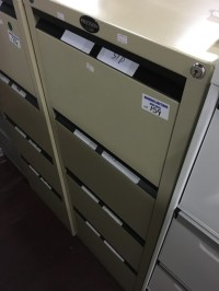PRECISION CLASSIC' BEIGE METAL 4 DRAWER FILING CABINET