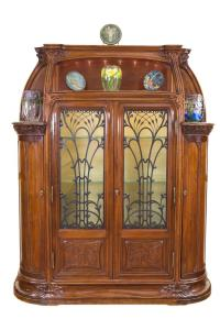 "An Important French Art Nouveau ""Aux Algues"" Cabinet by, Lou"