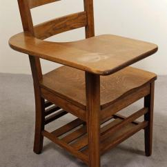 Posture Chair Desk Antique Sewing Student Vintage American Oak Tel Roll Seat