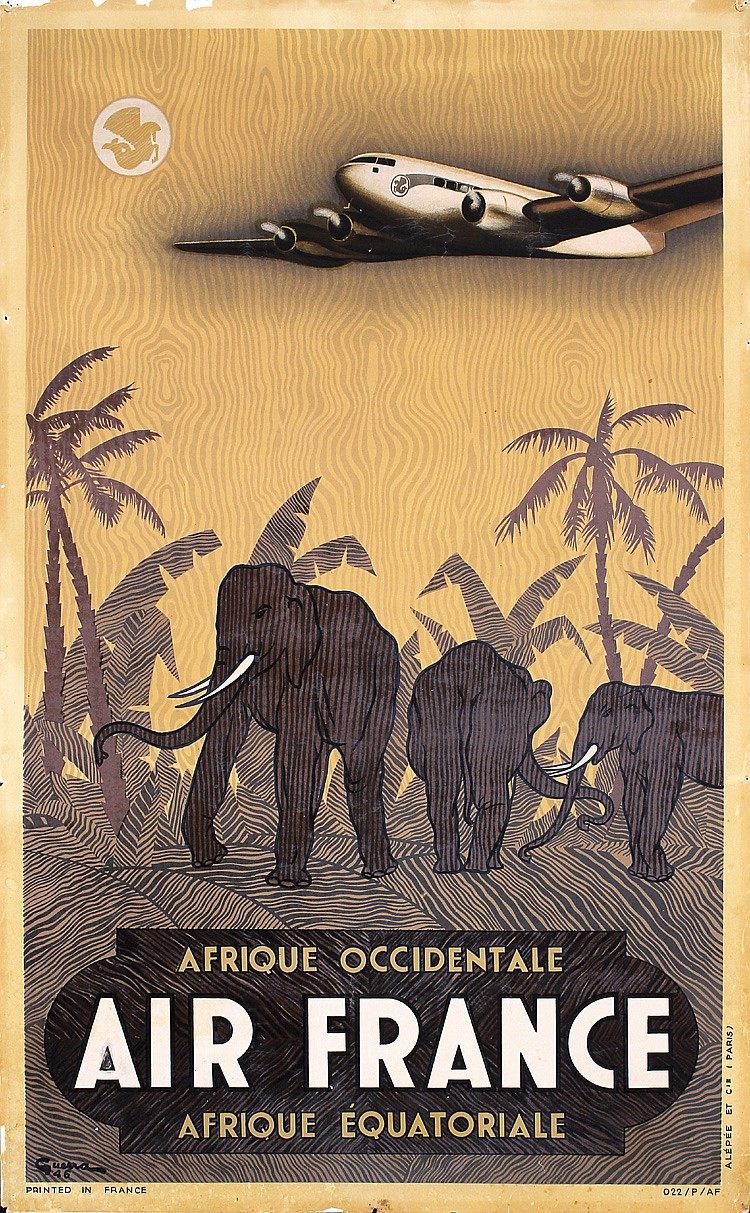 Air France - Afrique Occidentale, Vincent Guerra, 1946