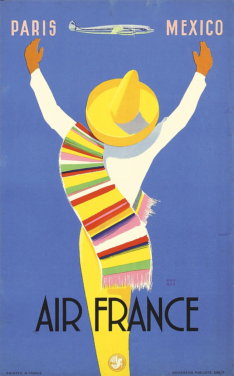 Air France - Paris - Mexico, Edmond Maurus, 1954