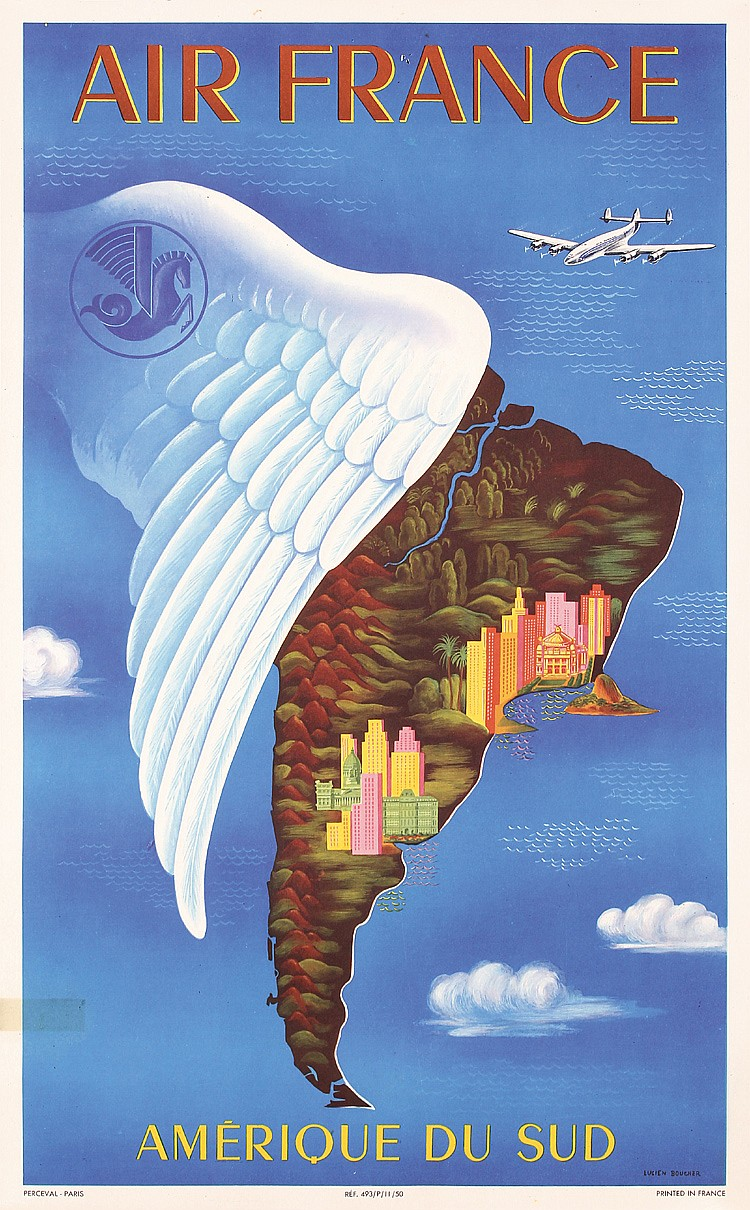 Air France - Amerique du Sud, Lucien Boucher, 1950