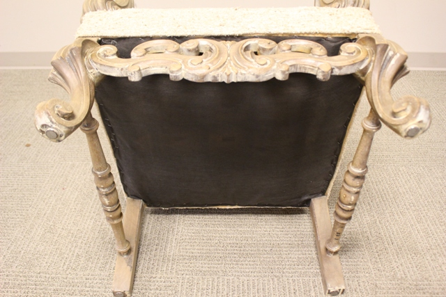 Contemporary Italian Style Throne Chair